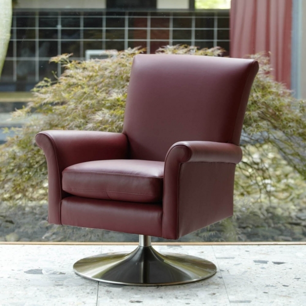 Bradley Leather Swivel Chair 41