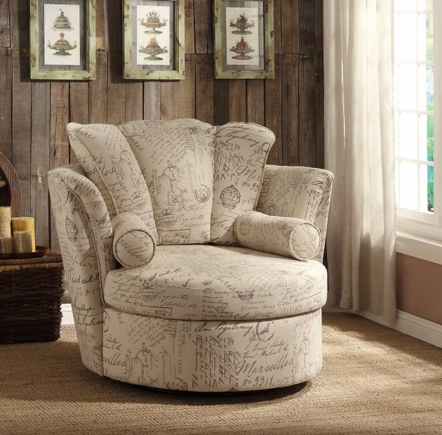 Cozy Round Swivel Chair Accent Chairs Creative Designs Photos 50