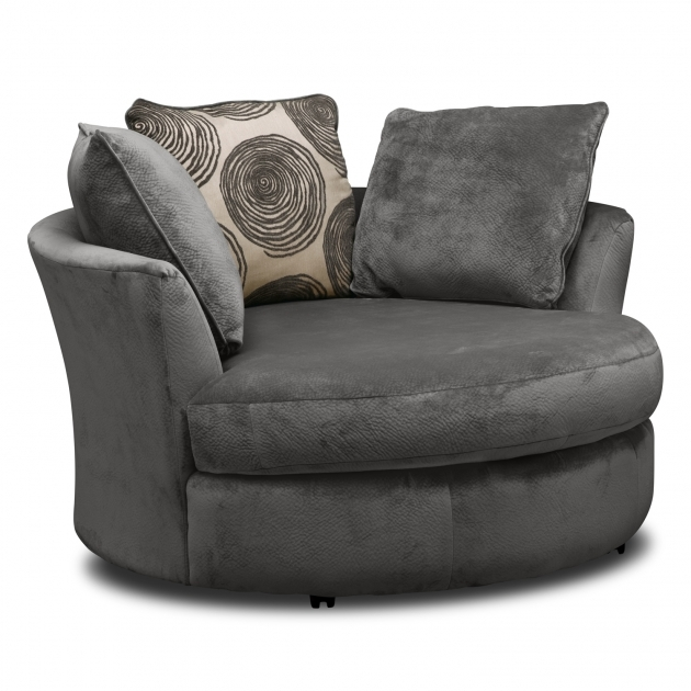Brilliant Round Swivel Chair Purple Leatherette Swivel