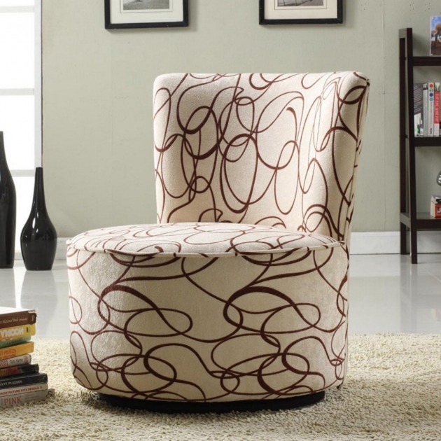 Gorgeous Round Swivel Chair For Living Room With Black Zebra Pattern Curved Seat Upholstered Swivel Chairs Pic 36