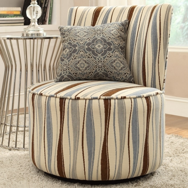 Incredible Round Swivel Chair For Living Room With Vertical Wavy Stripe Pics 78
