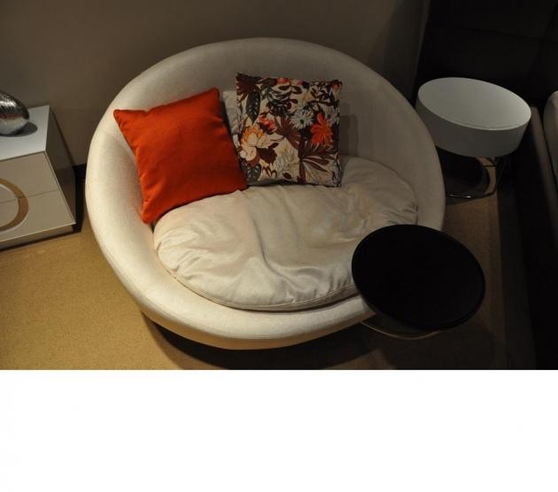 Inspiring Round Swivel Chair Divani Casa Alba Modern Fabric Swivel Round Lounge Chair White Image 44