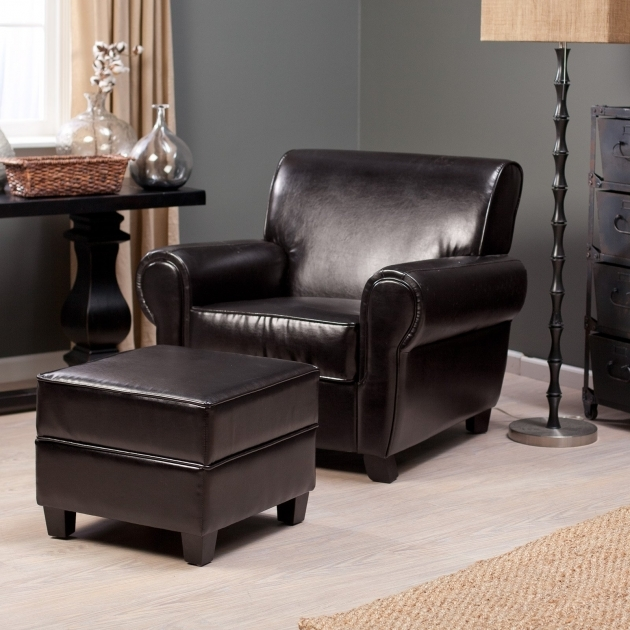Leather Club Chair Belham Living Sonoma And Storage Ottoman Picture 21