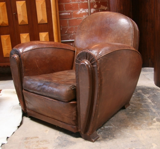 Leather Club Chair Italian Brown With Wood Legs For Home Furniture Ideas Pic 99