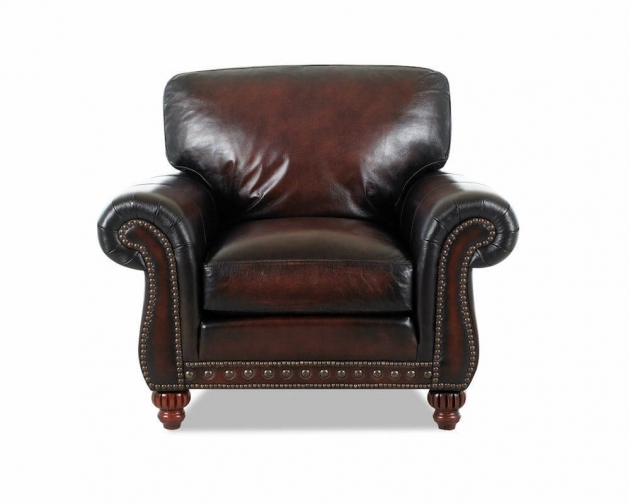 Leather Club Chair Vintage American Made Photos 56
