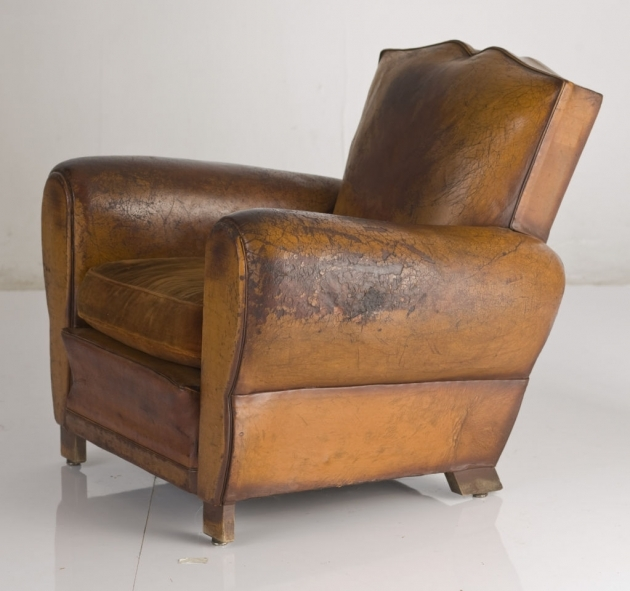 Leather Club Chair Vintage French Chairs Images 80