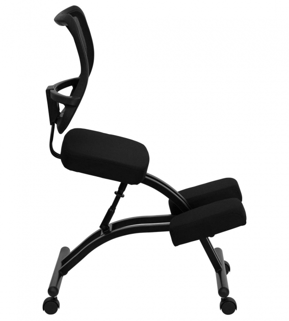 Mobile Ergonomic Kneeling Chair Black Pictures 48