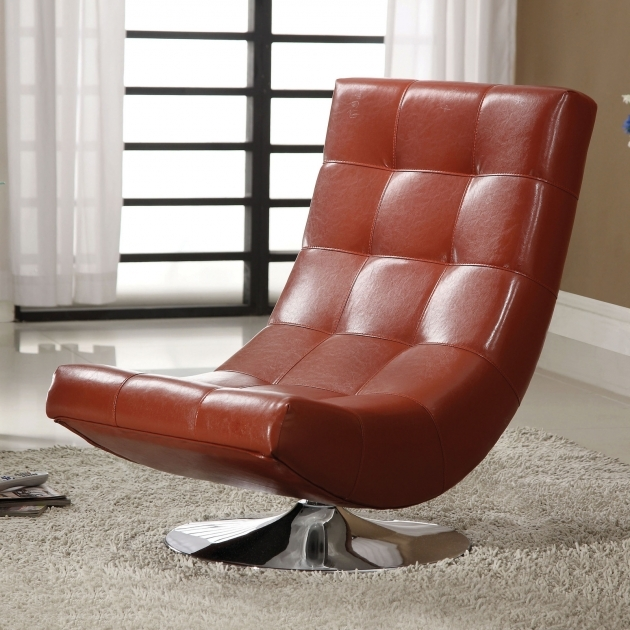 Red Leather Swivel Chairs For Living Room Photos 64