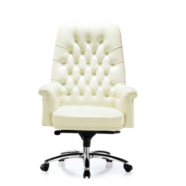 Swivel Desk Chair White Leather Design Furniture Pic 65