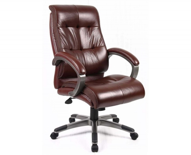 Best Leather Office Chair Burgundy Color Padded Armrest Gray Nylon Base Pic 36