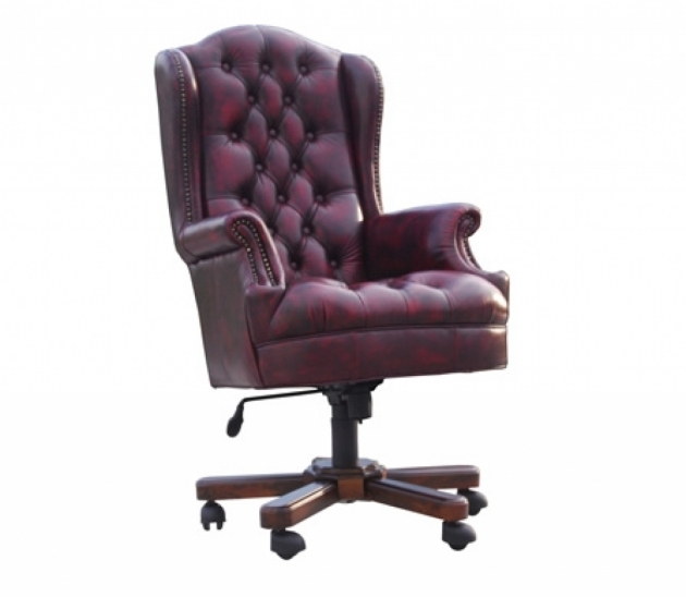 Best Leather Office Chair Wonderful Tufted Deat And Back Wood Base Material Nail Head Trim Accents Penumatic Seat Pic 48