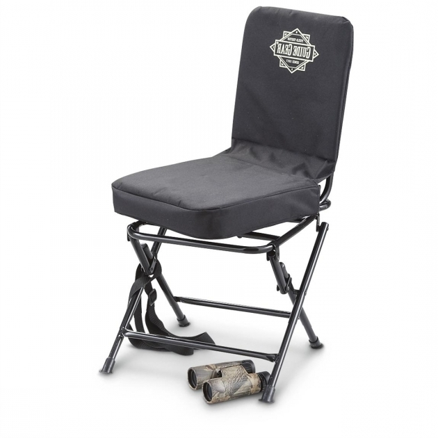 Black 222292 Stools Chairs Swivel Hunting Chair With Backrest Image 17