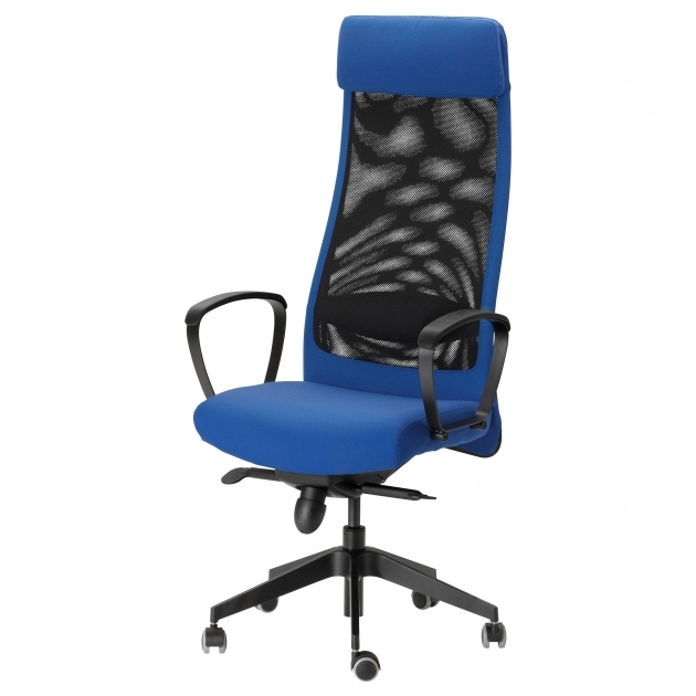 Blue Swivel Chair Furniture Computer Office Fabric Leather Office Chairs Photos 44