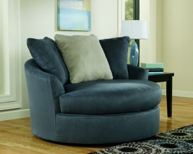 Blue Swivel Chair Modern For Living Room With Dark Blue Accents Color Combined Curves Seats Cushions Photo 65