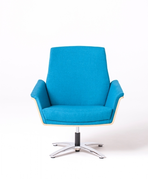 Blue Swivel Chair New Retro Modern Wood Backed Picture 51