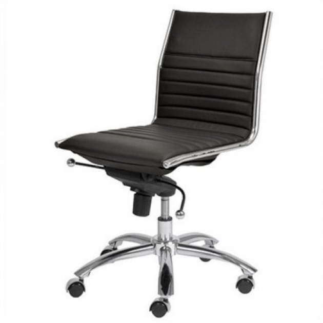 Bte White Armless Office Chair Picture 26