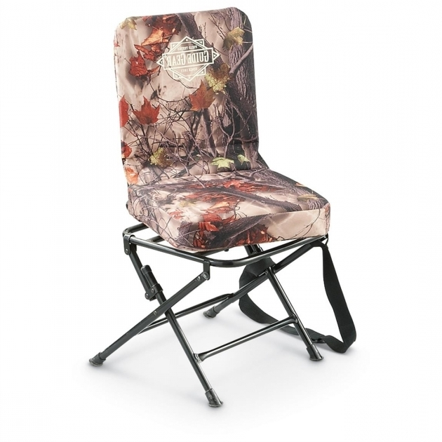 Camo Swivel Hunting Chair With Backrest Images 24