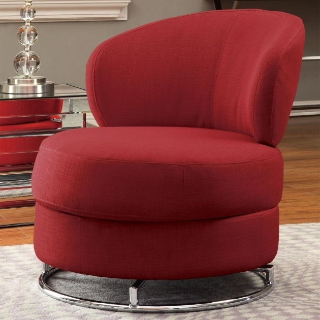 Coaster Swivel Chair Red Fabric Sofa Furniture Picture shoshuga 94