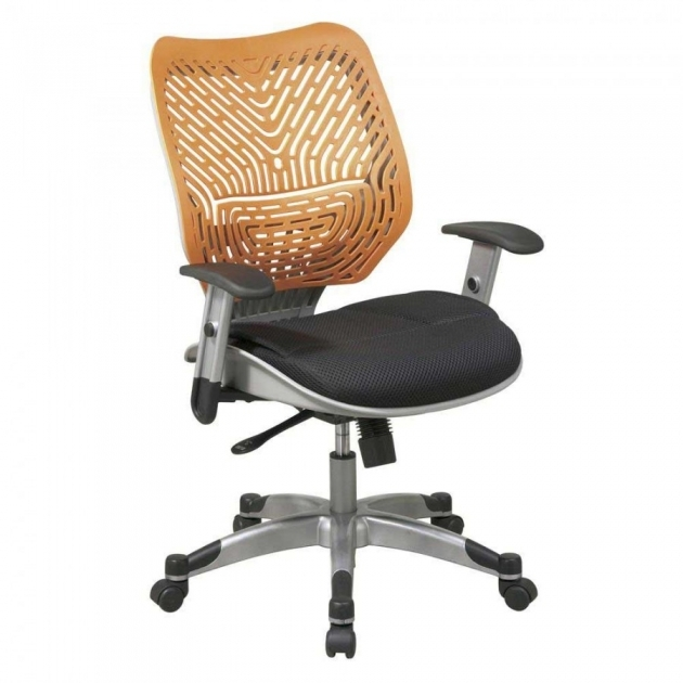 Comfortable Office Chairs Mesh Back And Fabric Seat Adjustable Armrest Tilt Lock And Tilt Tension Adjustable Seat Photo 01