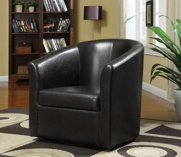 Furniture Black Leather Club Chairs For Small Spaces For Traditional Living Room Design Picture 83