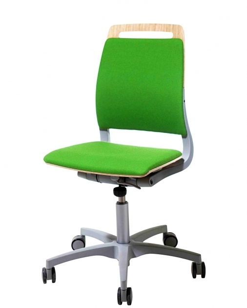 Green Armless Office Chairs With Wheels For Our Environment Furniture Images 24
