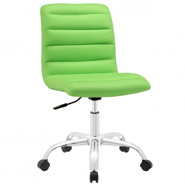 Green Armless Office Chairs With Wheels Photos 99