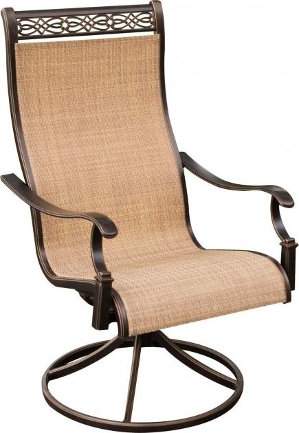 Hanover Monaco 5 Piece Outdoor Dining Set High Back Swivel Rocker Patio Chairs Image 08