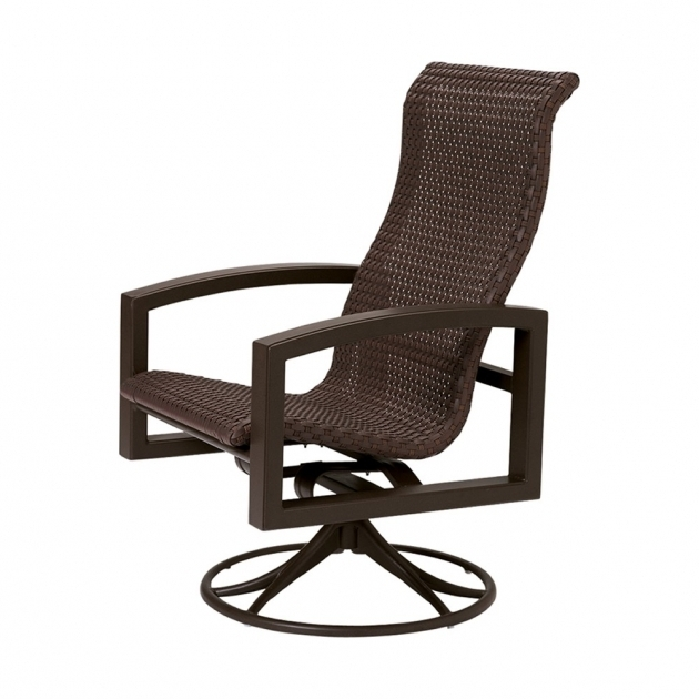 High Back Swivel Rocker Patio Chairs Furniture Tropitone Lakeside Woven Wicker Photo 86