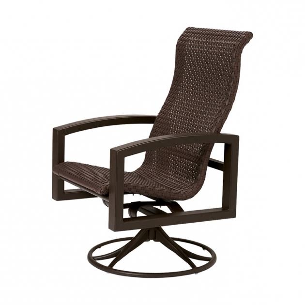 High Back Swivel Rocker Patio Chairs Furniture Tropitone Lakeside Woven Wicker Photo 86