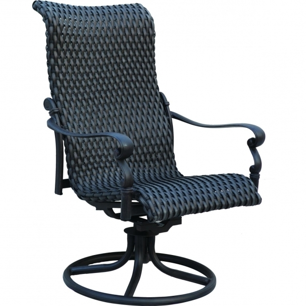 High Back Swivel Rocker Patio Chairs Images 01