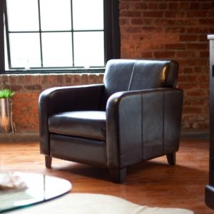 Top Grain Leather Club Chair