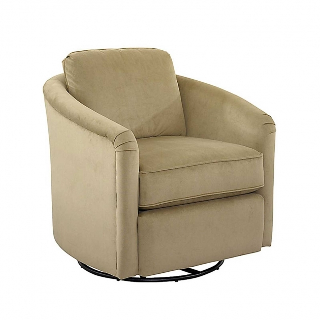 Interior Cream Swivel Fabric Chair With Puff And Arm Swivel Upholstered Chair Picture 99