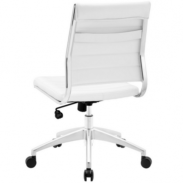Jive White Armless Office Chair Mid Back Modern Ideas Images 72