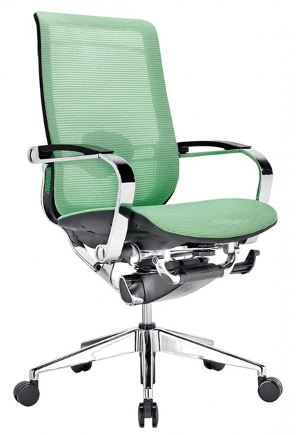 Mesh Ergonomic Office Chair Green Color Chrome Frame And Base Dual Wheel Casters Images 37