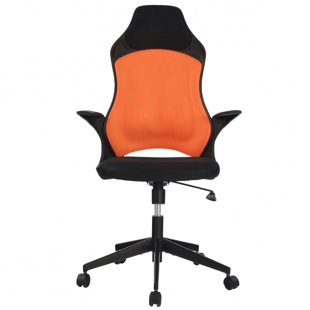Orange Office Chair Merax Mesh Task Chair With Mesh Padded Seat Swivel Tilt Chair Photo 14