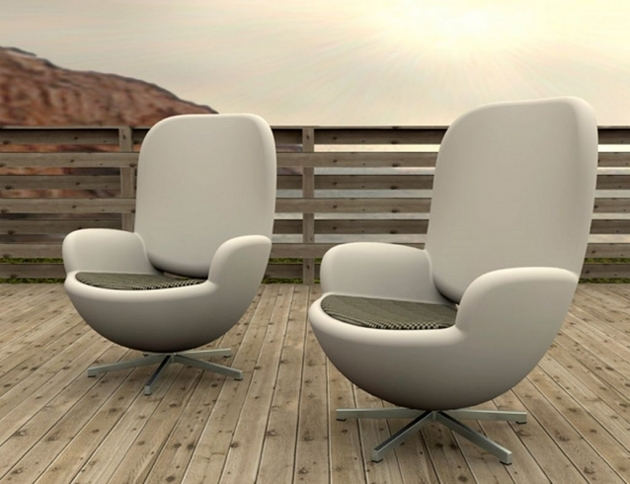 Outdoor Swivel Chairs Modern Living Room Furniture Design With Unique Artistic Wooden Deck Illuminate Swivel Chair Pictures 44