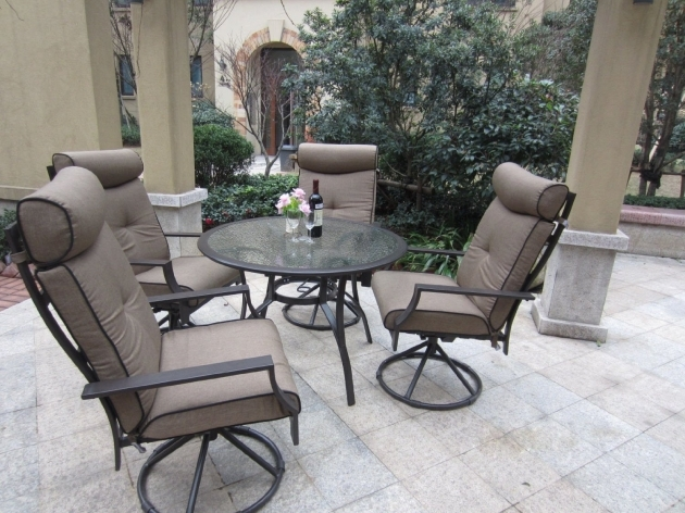 Pebble Lane Living Outdoor Swivel Chairs 5 Piece Patio Dining Set  Image 36