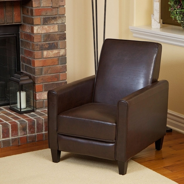 Pierce Bonded Leather Recliner Club Chairs For Small Spaces Image 24