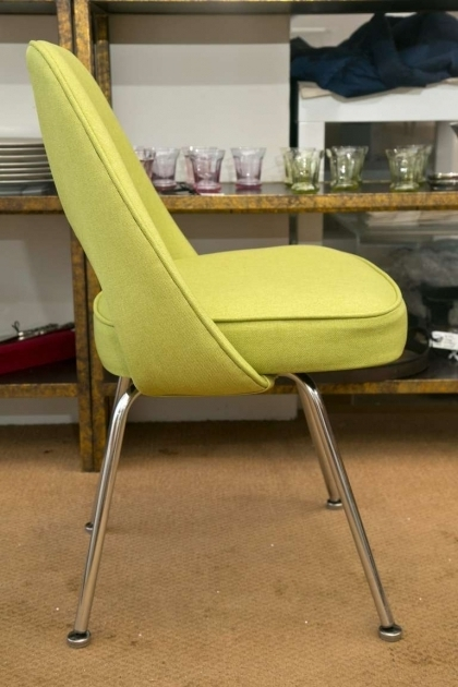 Saarinen Executive Chair Honey Dew Green For Sale Photos 76