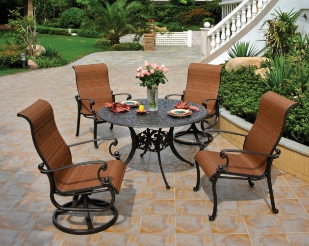 Sling Outdoor Swivel Dining Chairs Picture 71
