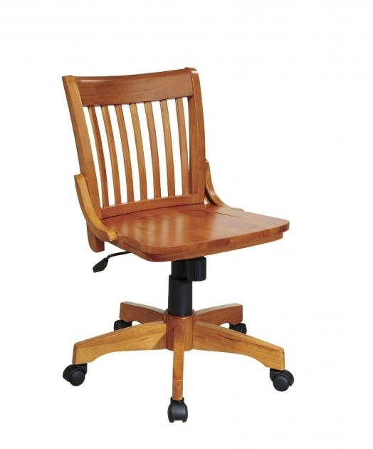 Star Armless Office Chairs With Wheels Wooden Material Picture 63