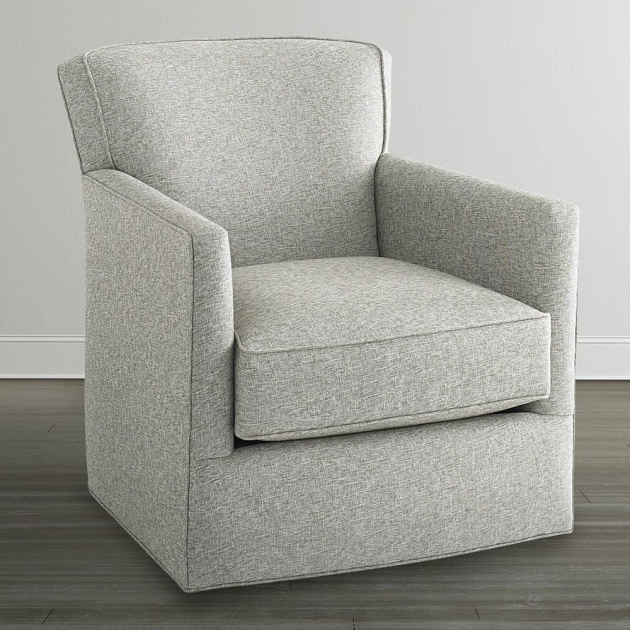 Swivel Glider Chair Off White Photo 35