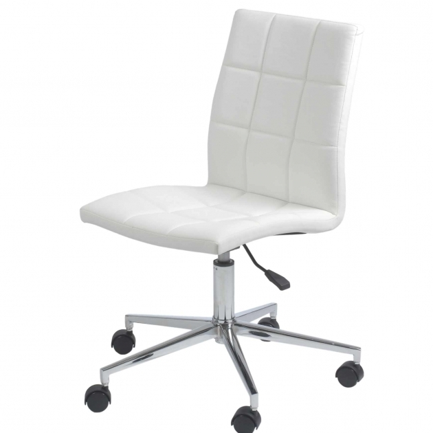 White Armless Office Chair Best Design Photos 16