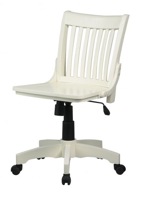 White Armless Office Chair Swivel Ashery Design Photos 69