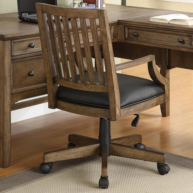 Wooden Swivel Desk Chair And Table  Photos 34