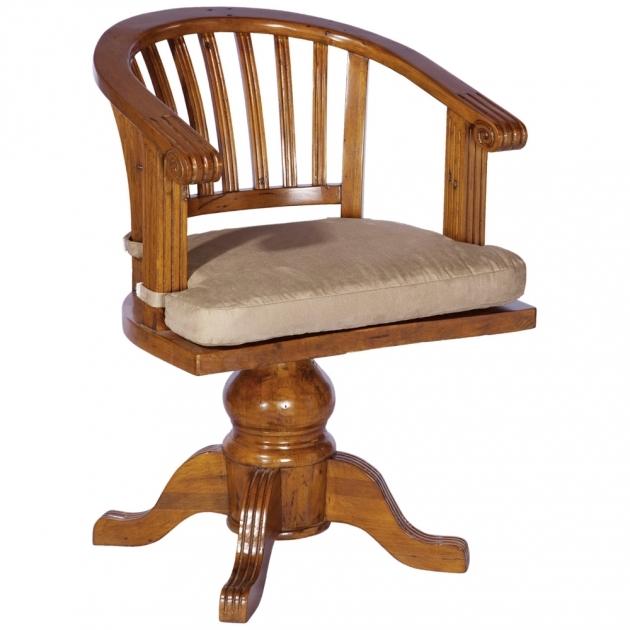Wooden Swivel Desk Chair Design Ideas Image 01