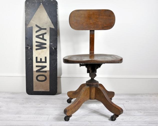 Wooden Swivel Desk Chair Office Photos 87