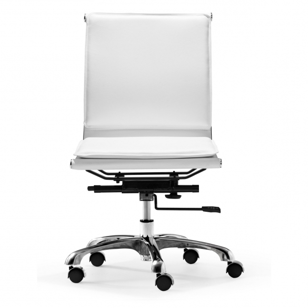 Zuo Modern White Armless Office Chair Photo 83