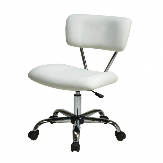 Zuo White Armless Office Chair Images 67
