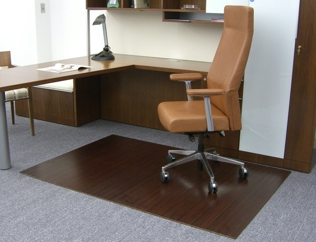 Bamboo Roll Up Office Chair Mat For Wood Floors Without Lip Dark Cherry Mat Hard Picture 65